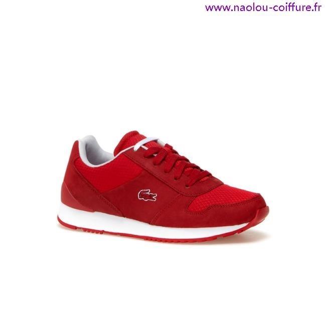 76cd3f130ae basket lacoste femme rouge 1